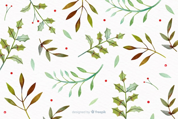 Christmas concept with watercolor background Free Vector