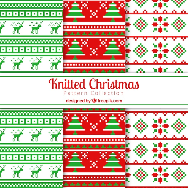 Christmas cross stitch patterns Vector | Free Download