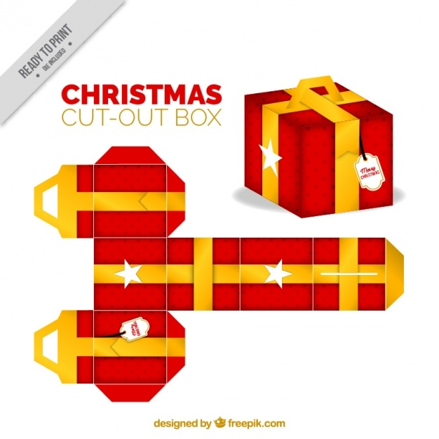 Christmas cut out gift box vector free download christmas cut out gift box free vector negle Gallery