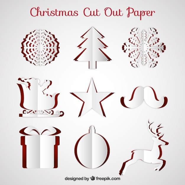 christmas cut out paper free vector