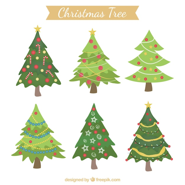 Christmas Decorated Trees Stock Images Page Everypixel