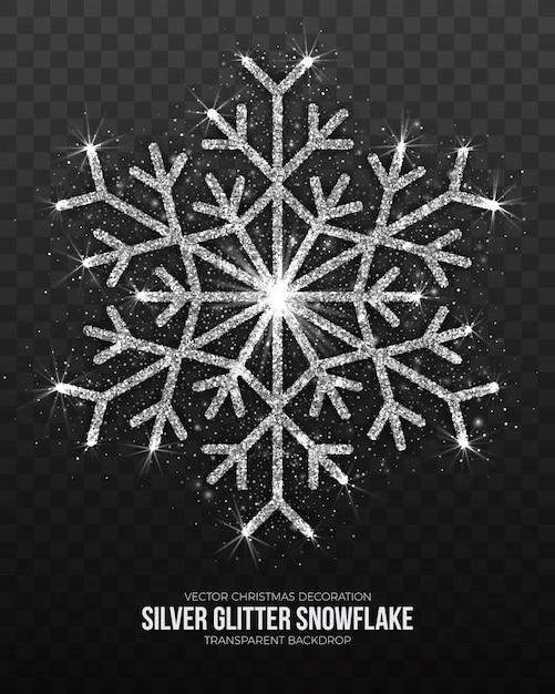 Christmas decoration silver snowflake Premium Vector