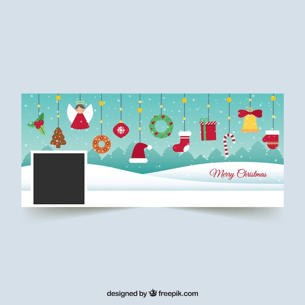 Immagini Di Copertina Di Natale.Copertine Di Natale Per Facebook Vettore Gratis