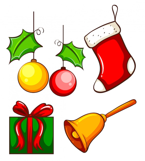 Christmas decorations Free Vector