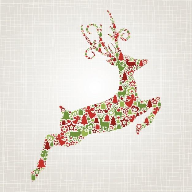 Christmas deer background Vector | Free Download