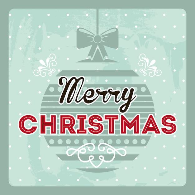 Christmas design over blue background vector illustration Premium Vector