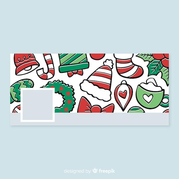 Christmas design facebook cover Free Vector