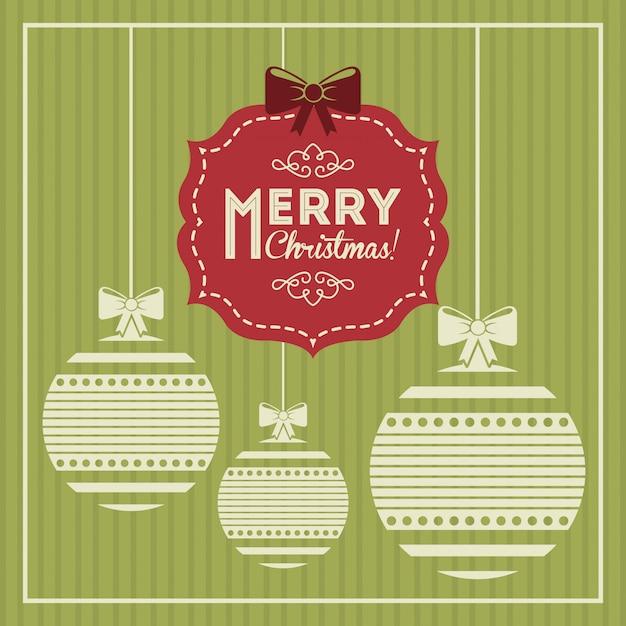 Christmas design over green  background vector illustration Premium Vector