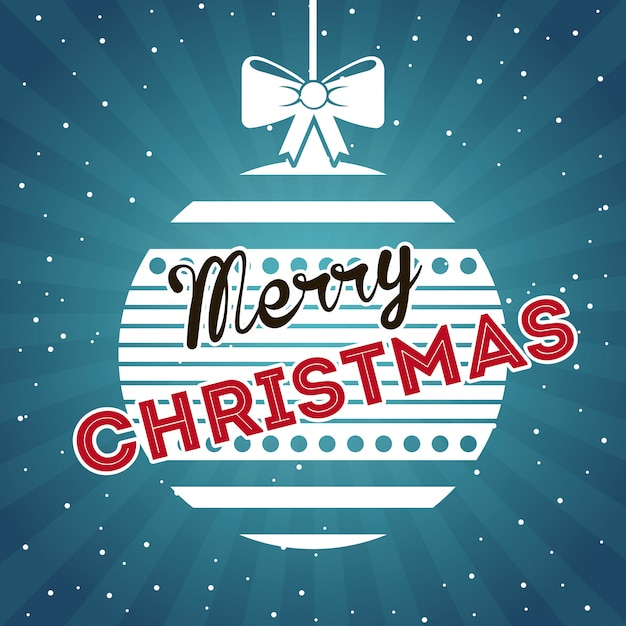 Christmas design over sky  background vector illustration Premium Vector