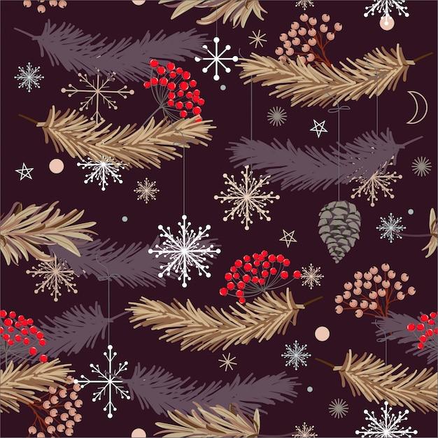 Christmas designs,  seamless vector pattern Premium Vector
