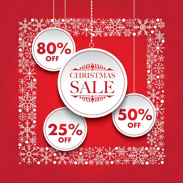 Christmas discount tag Vector | Premium Download