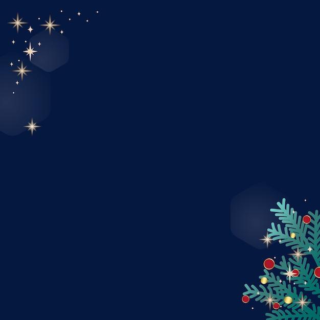 青い背景にクリスマス落書き 無料ベクター