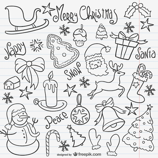 Christmas doodles pack