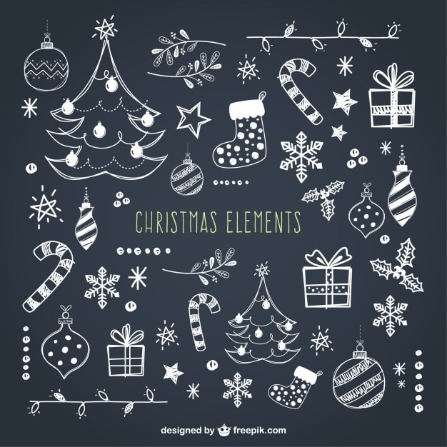 Christmas Elements Collection Premium Vector