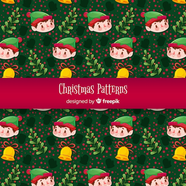 Christmas elements pattern Free Vector