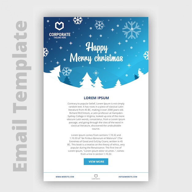 Christmas Email Template Vector Premium Download
