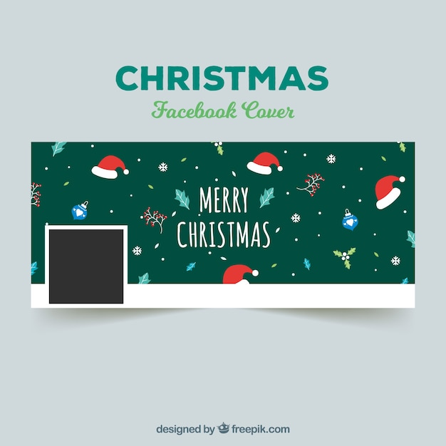 Christmas facebook cover in green
