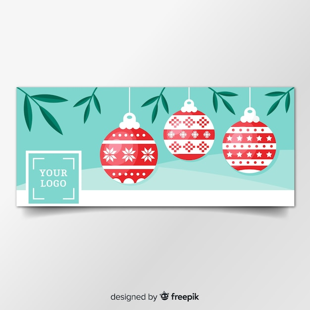 Christmas facebook cover Free Vector