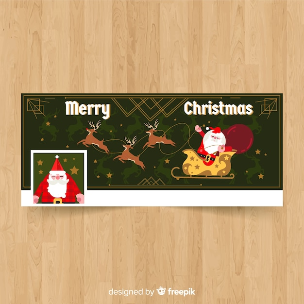 Christmas facebook cover Free Vector