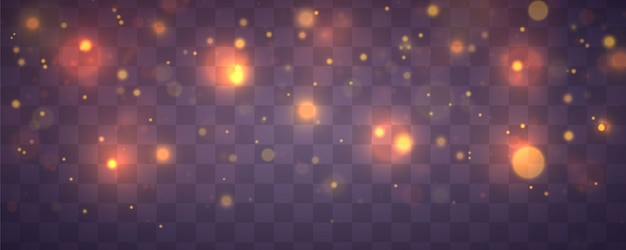 Christmas festive purple and golden luminous background Premium Vector