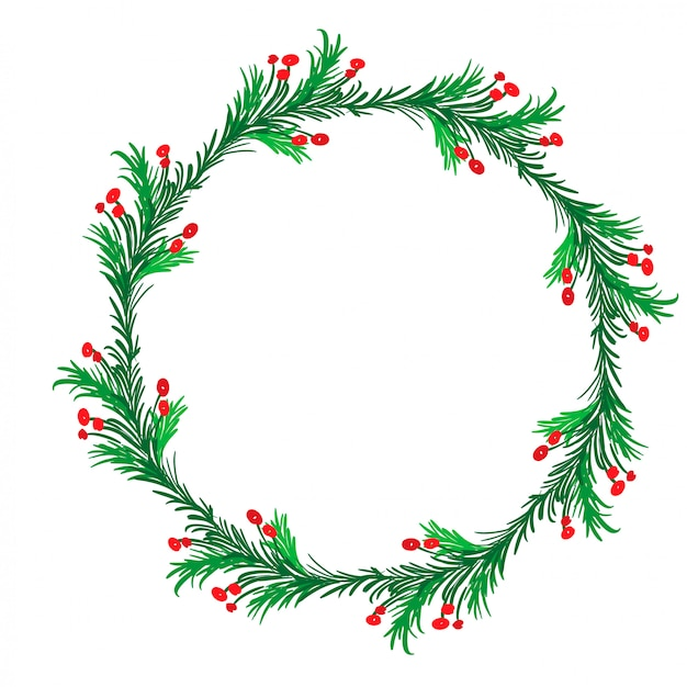Christmas flourish calligraphy vintage holiday frame Premium Vector
