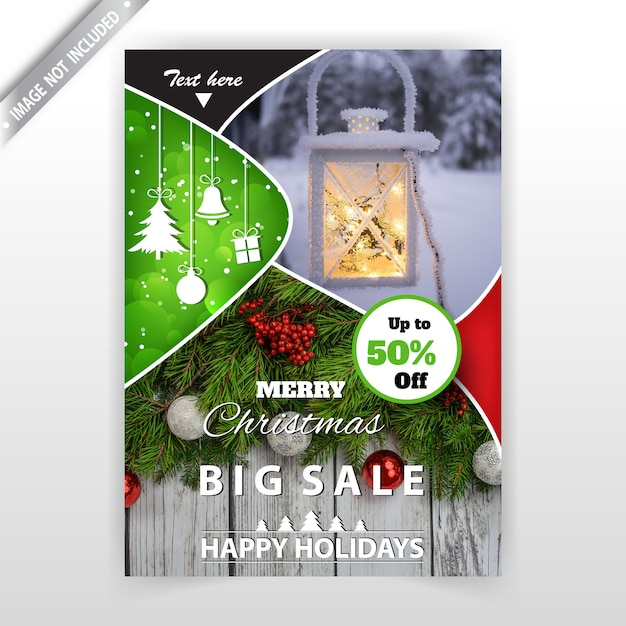 christmas flyer template free vector