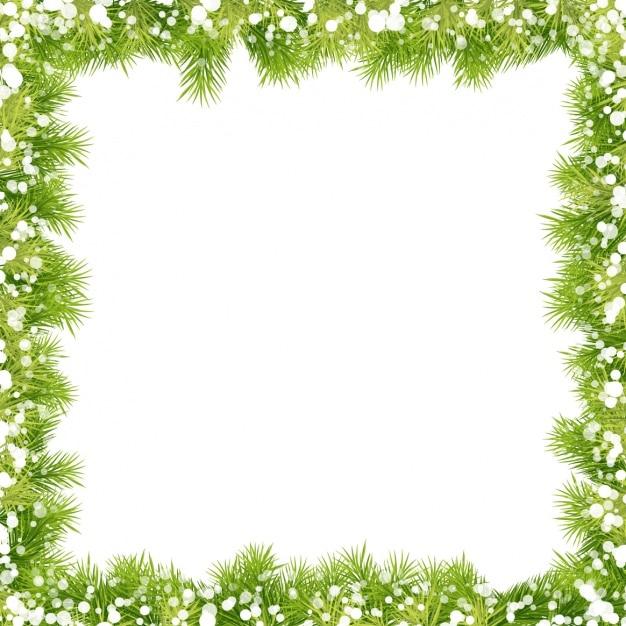 Christmas frame design Vector | Free Download