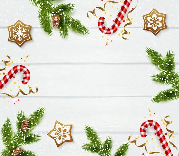 Christmas frame template Free Vector