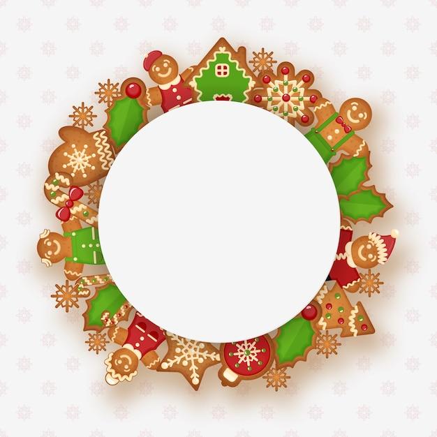 Новогодняя рамка с местом для текста. дизайн украшения на рождество и новый год. Бесплатные векторы