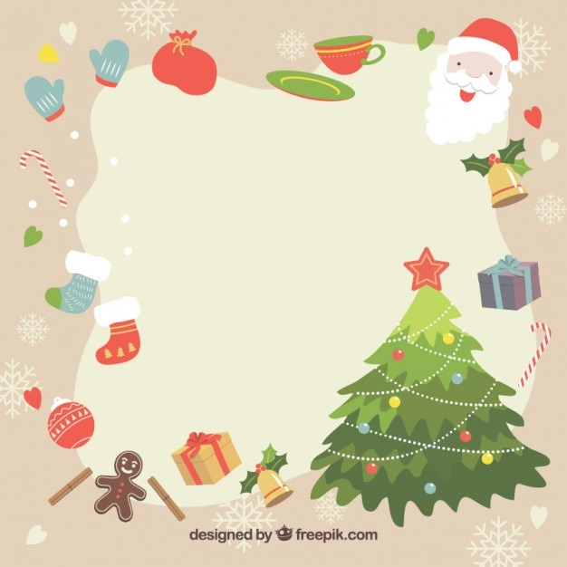 Christmas frame Vector | Free Download