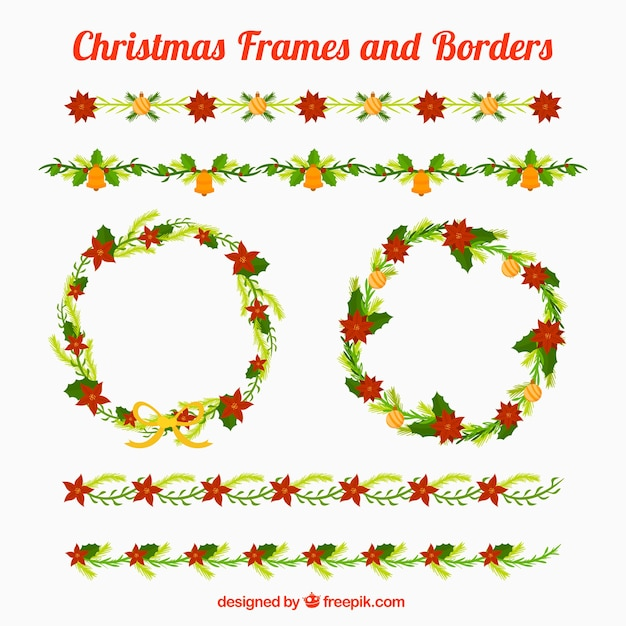 Christmas frames and borders Vector | Free Download