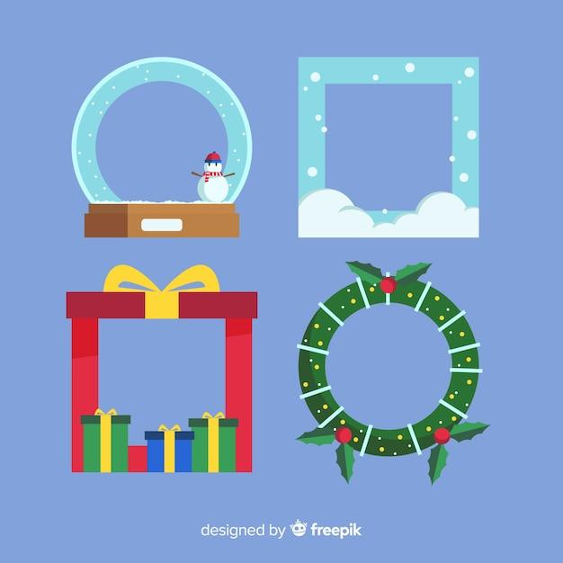 Christmas frames & borders Free Vector