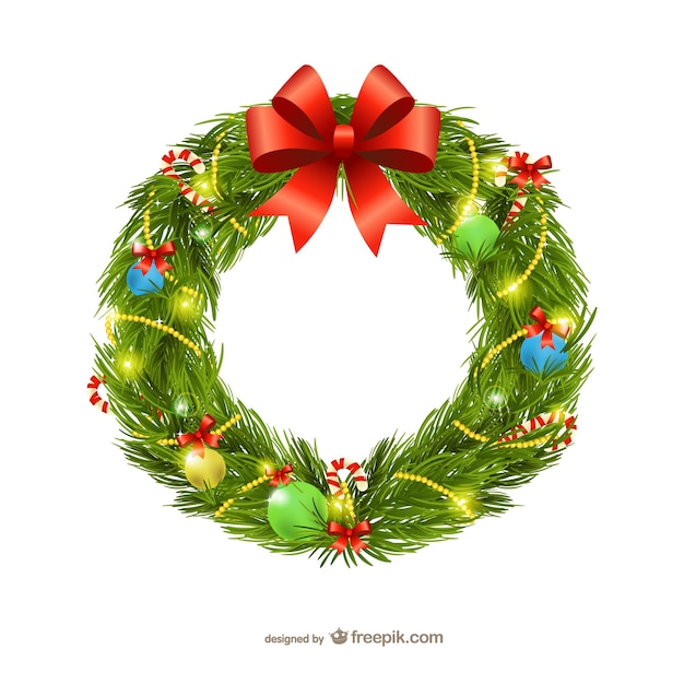 Christmas Garland Illustration Vector Free Download