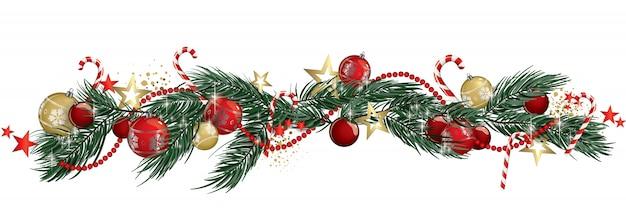 Christmas garland isolated Premium Vector