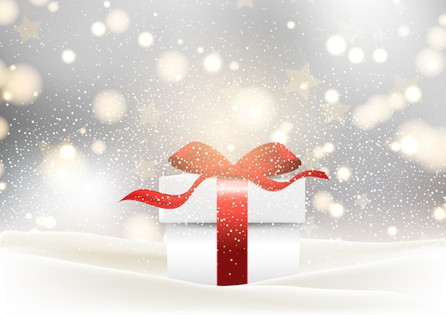 Christmas gift background Free Vector