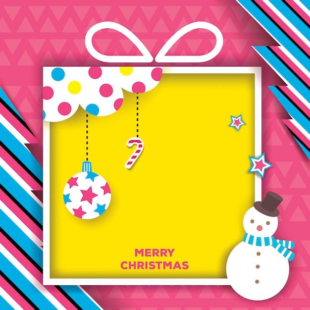 Christmas-gift-box-pink Premium Vector
