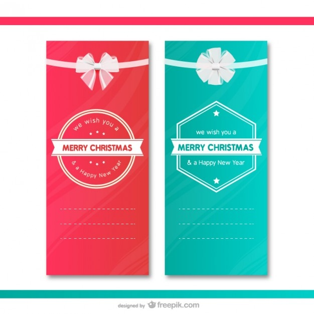 Christmas gift cards templates Vector – Christmas Gift Card Templates Free