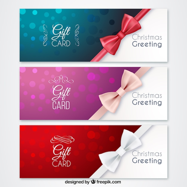 Christmas gift cards vector premium download christmas gift cards premium vector yadclub
