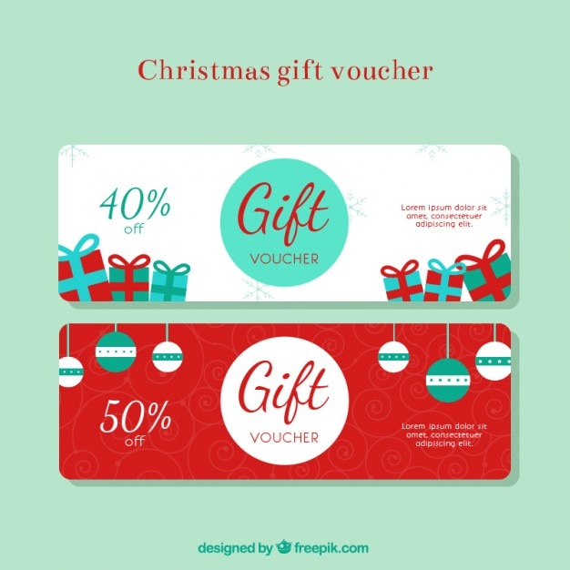 Christmas Gift Discount Voucher Free Vector  Free Discount Vouchers