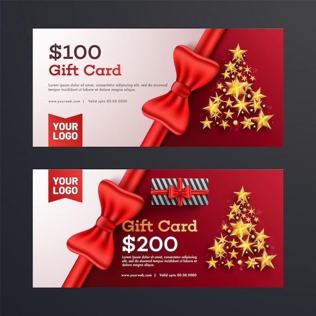 Premium Vector Christmas Gift Vouchers