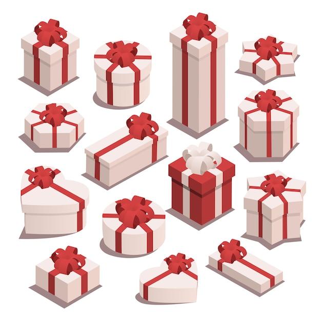 Подарки на рождество. Premium векторы