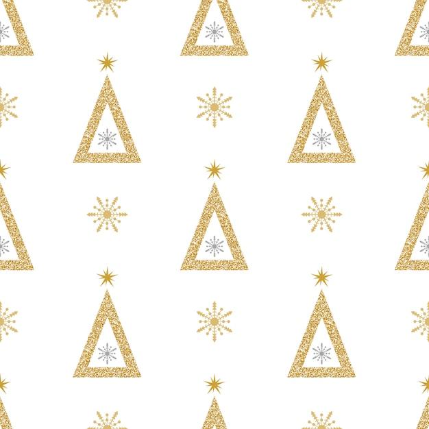 Christmas glitter pattern Premium Vector