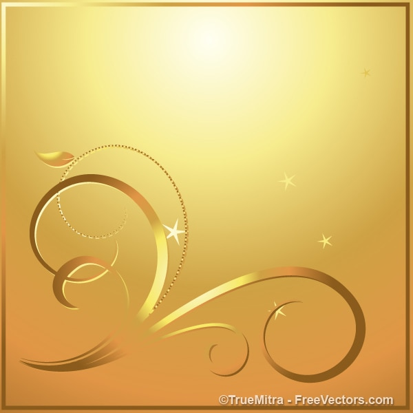 Christmas gold swirls abstract background Vector | Free ...