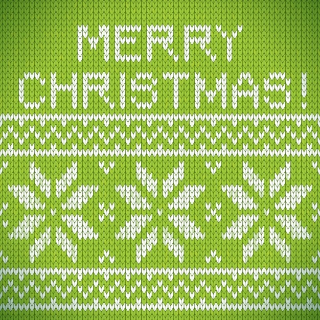 Christmas Green Background With Fabric Texture Free Vector