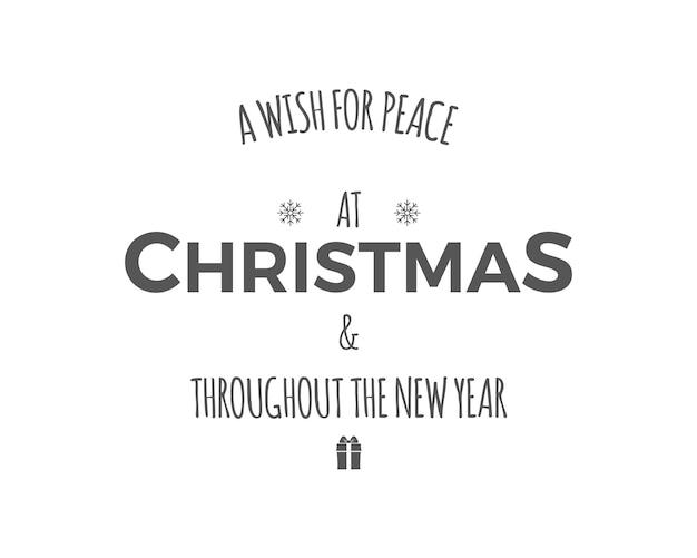 Рождественский поздравительный знак Premium векторы