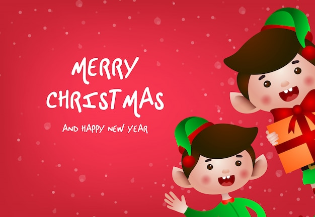 Christmas greeting card design Free Vector