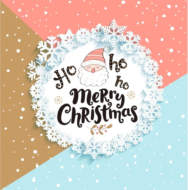 Christmas Greeting.Christmas Greeting Card On Geometric Background Vector