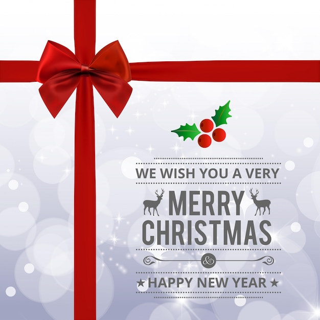 christmas greeting card or poster design vector premium download