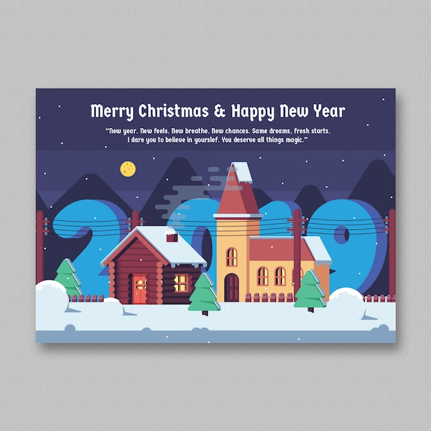 Christmas Greeting Card Template Vector Free Download