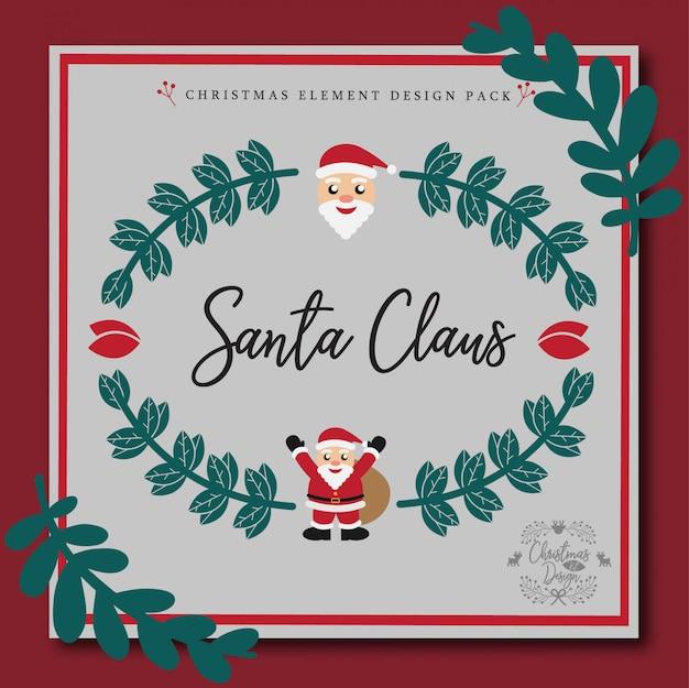 Шаблон рождественской поздравительной открытки Premium векторы